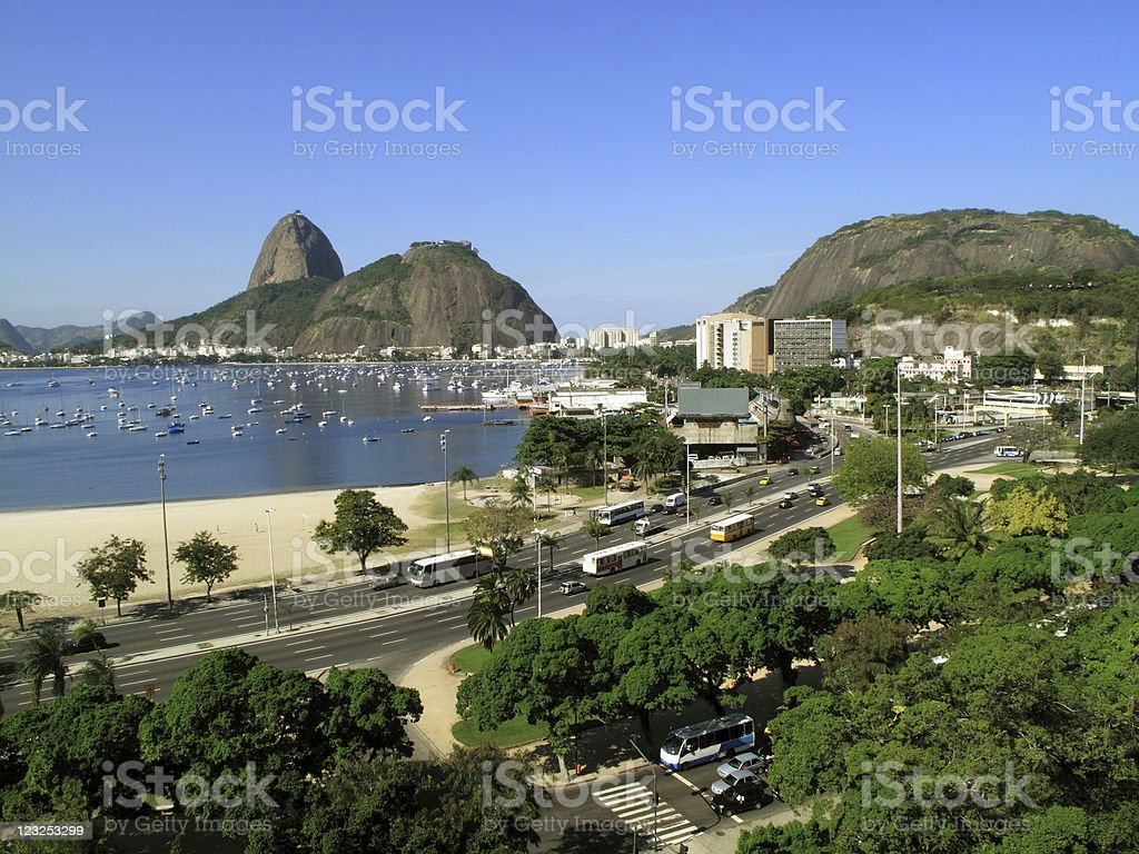 Botafogo Beach and the Sugarloaf royalty-free stock photo