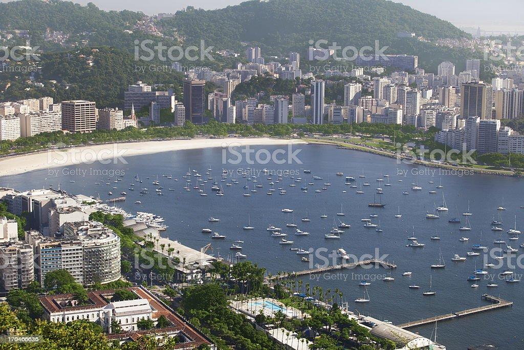 Botafogo Beach in Rio de Janeiro royalty-free stock photo