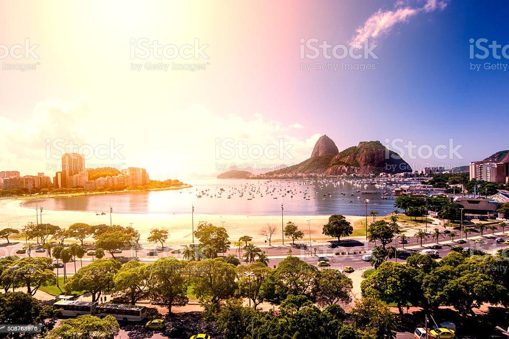 Botafogo beach stock photo