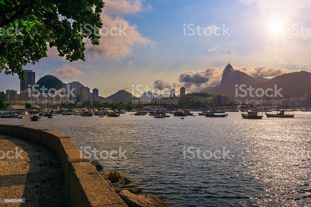 Botafogo, Corcovado in Rio de Janeiro stock photo