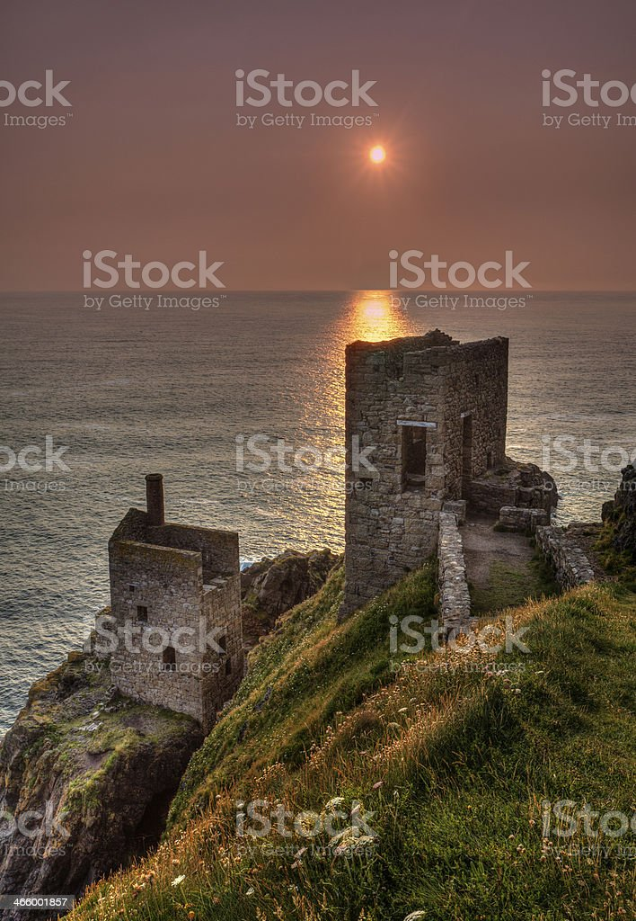 Botallack tin mine royalty-free stock photo