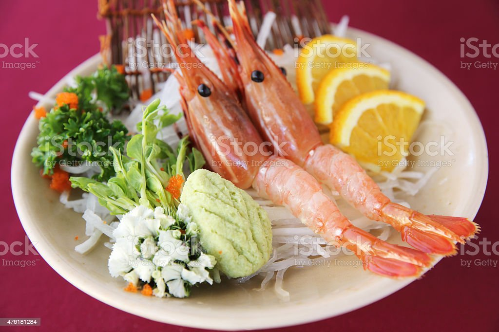 Botan Shrimp sashimi stock photo