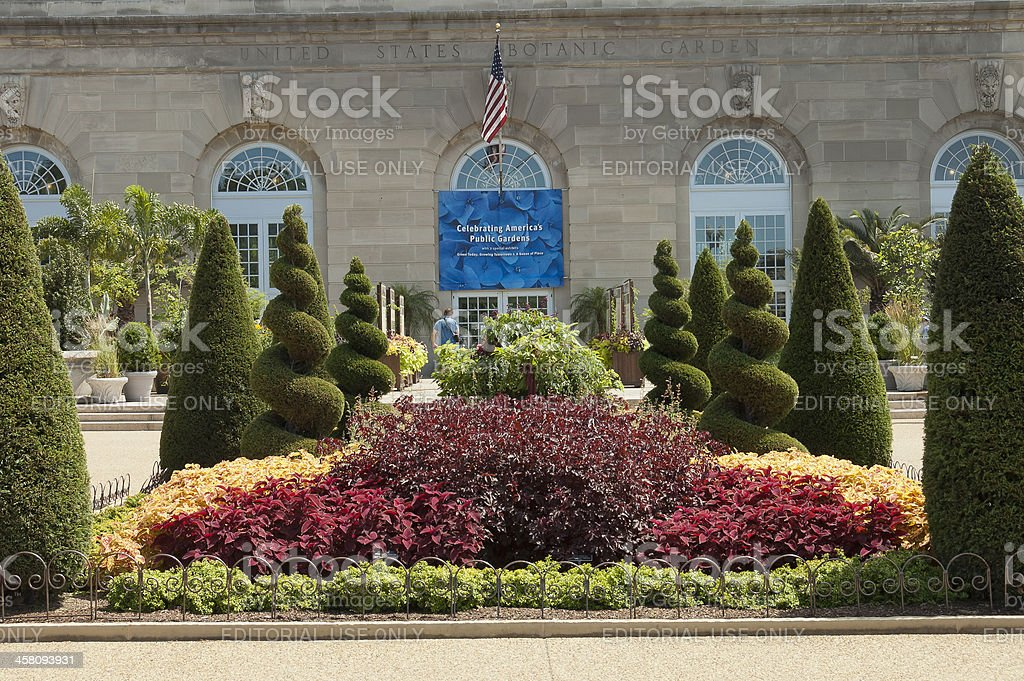 Botanic Garden front view stock photo