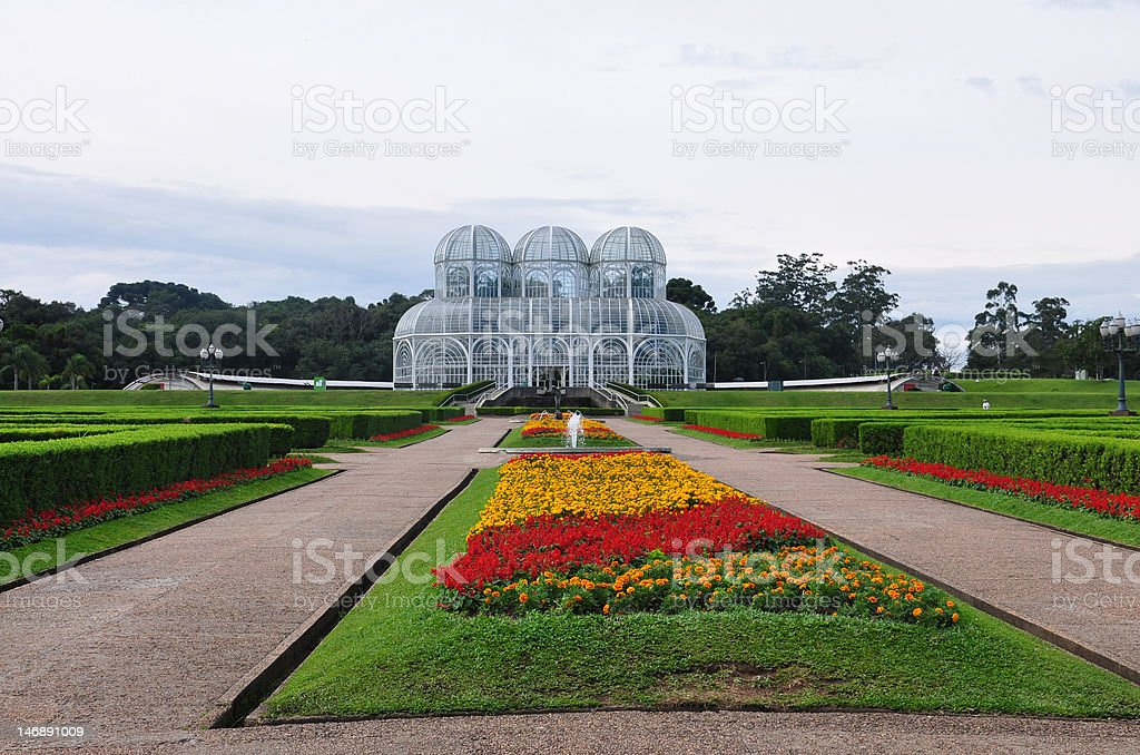 Botanic Gardens in Curitiba royalty-free stock photo