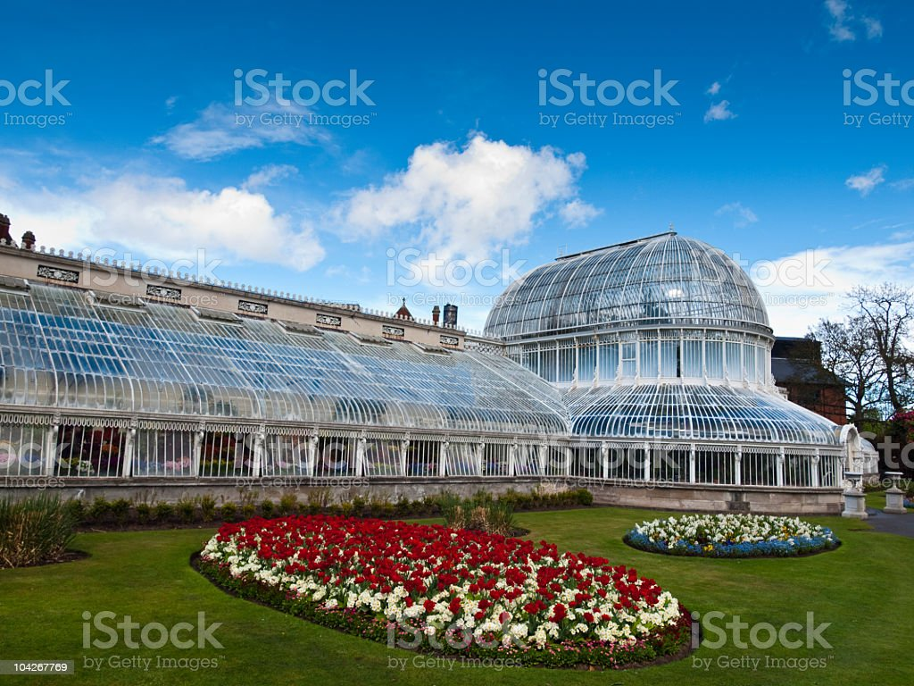 Botanic Palm House, Belfast,Northern Ireland stock photo