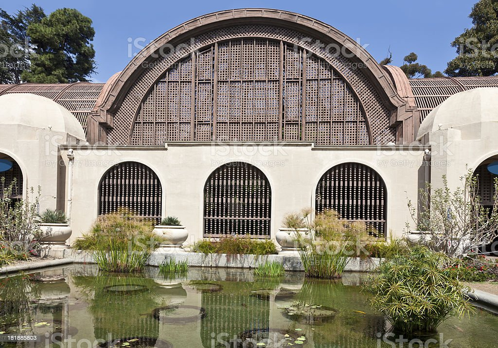 Botanical Building, Balboa Park, San Diego royalty-free stock photo