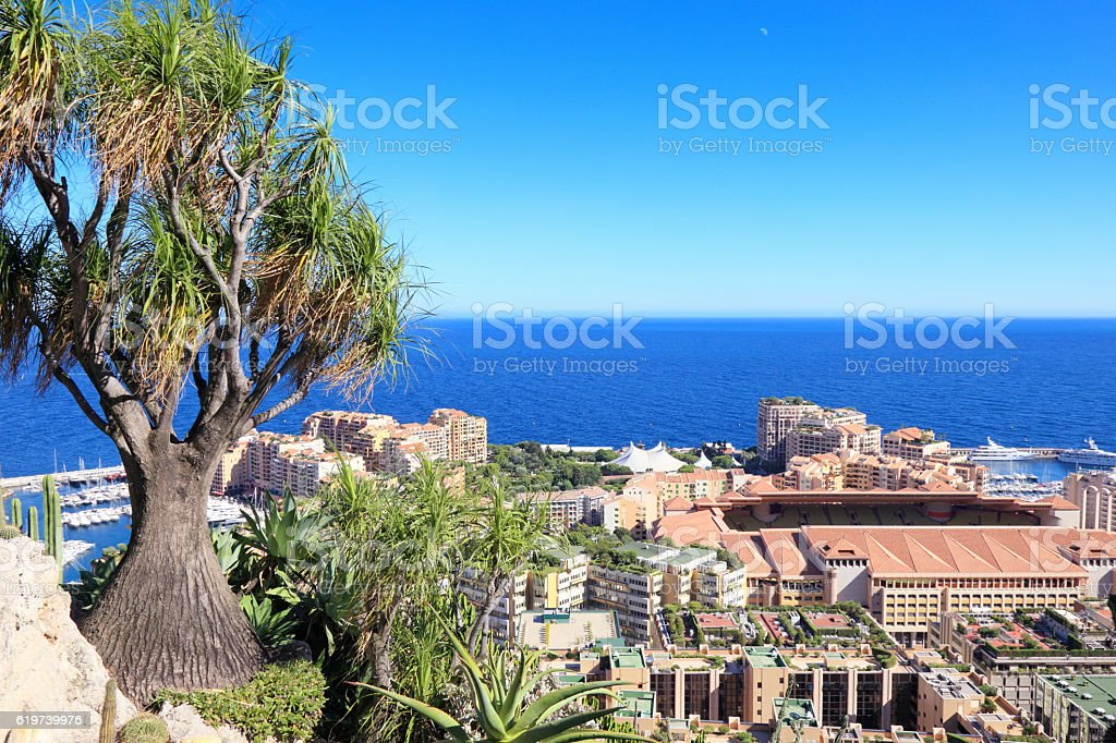 Botanical garden above Monte Carlo stock photo