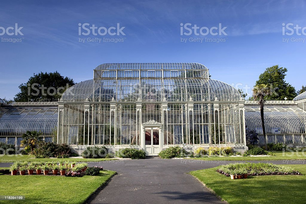 Botanical garden in Dublin stock photo
