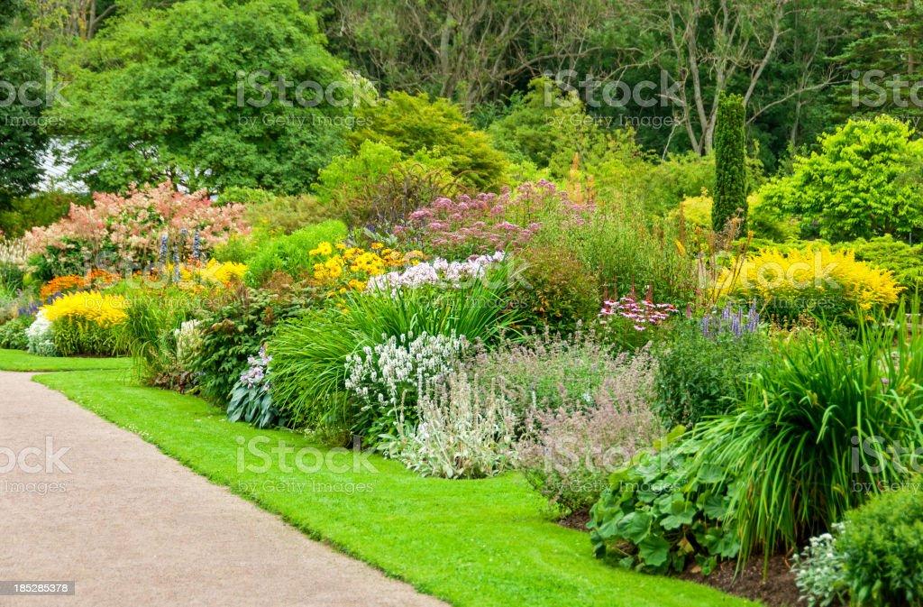 Botanical garden in summertime royalty-free stock photo