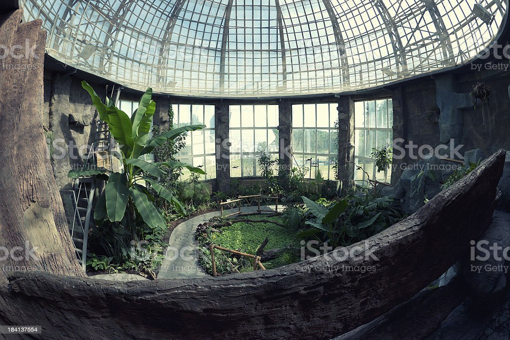 Botanical Garden Pavilion royalty-free stock photo
