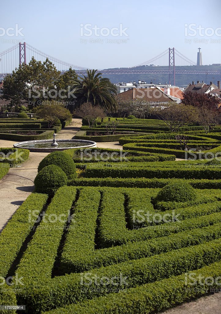 Botanical Gardens in Lisbon Portugal royalty-free stock photo