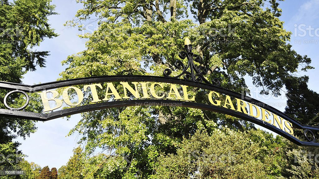 Botanical Gardens Sign stock photo