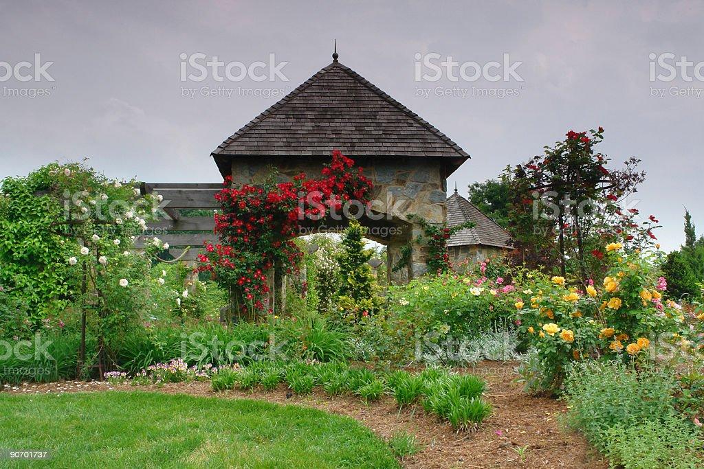 botanical gazebo royalty-free stock photo