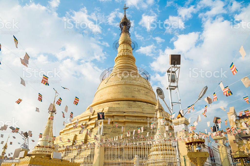 Botataung pagoda of Yangon, Myanmar. stock photo