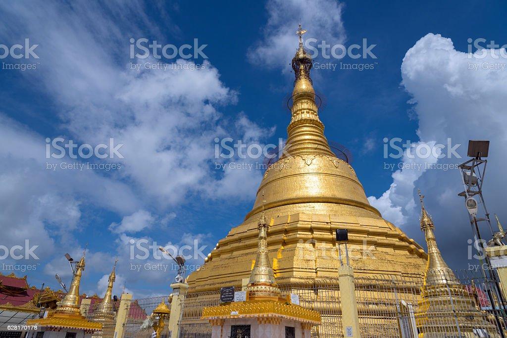 Botataung pagoda, Yangon, Myanmar stock photo