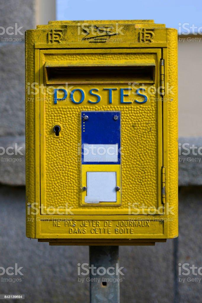 Boîte aux lettres stock photo