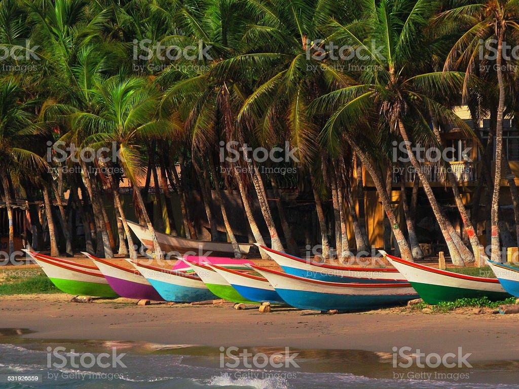 Botes en Margarita stock photo