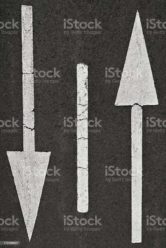 Both directions royalty-free stock photo