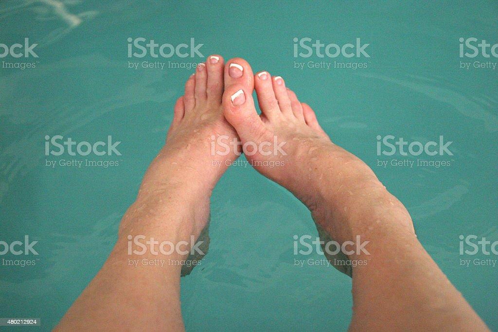 Both Feet in stock photo