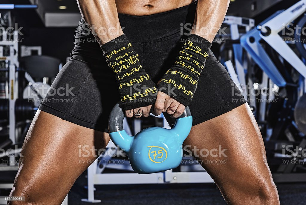 Both hand grip royalty-free stock photo