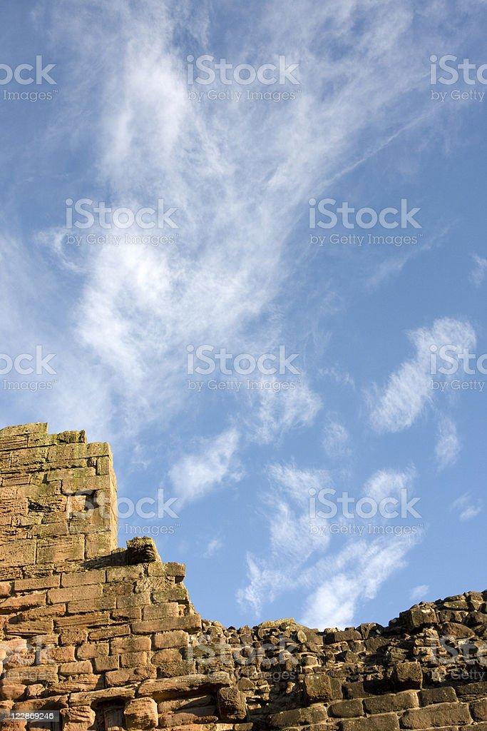 Bothwell Castle Wall royalty-free stock photo
