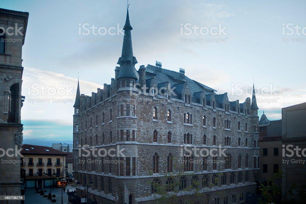 Botines House in Le?n, Spain. stock photo