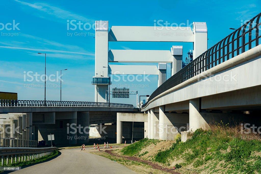 botlek bridge flyovers stock photo