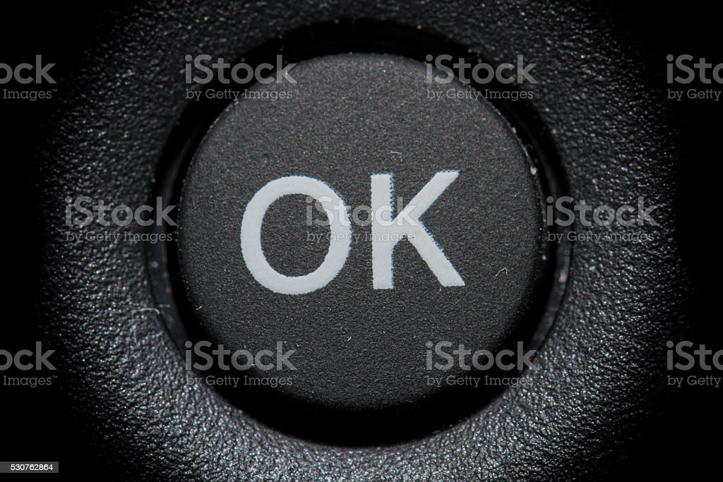 Boton OK stock photo