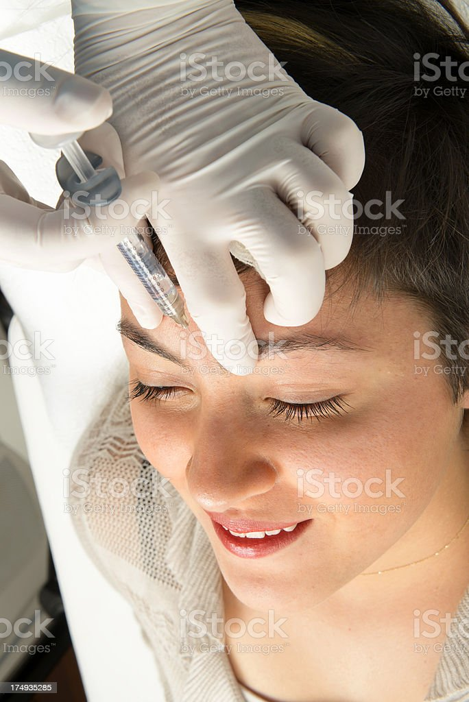 Botox and mesotherapy royalty-free stock photo
