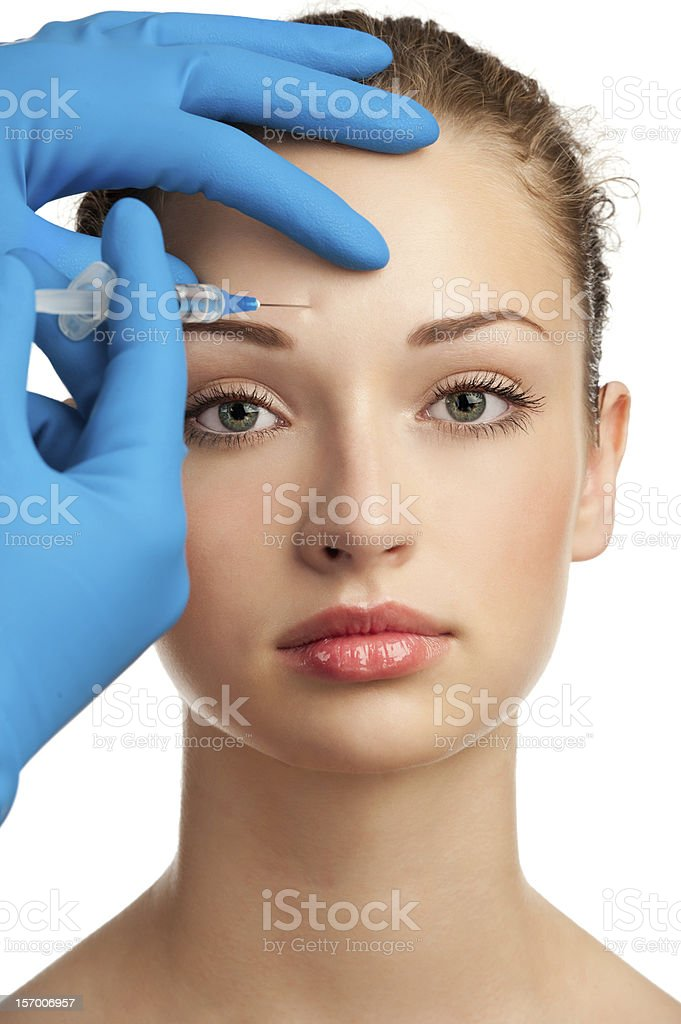 Botox injection royalty-free stock photo