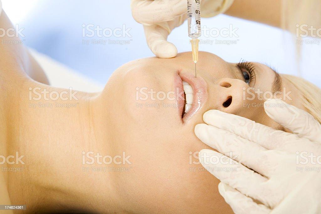 Botox treatment royalty-free stock photo
