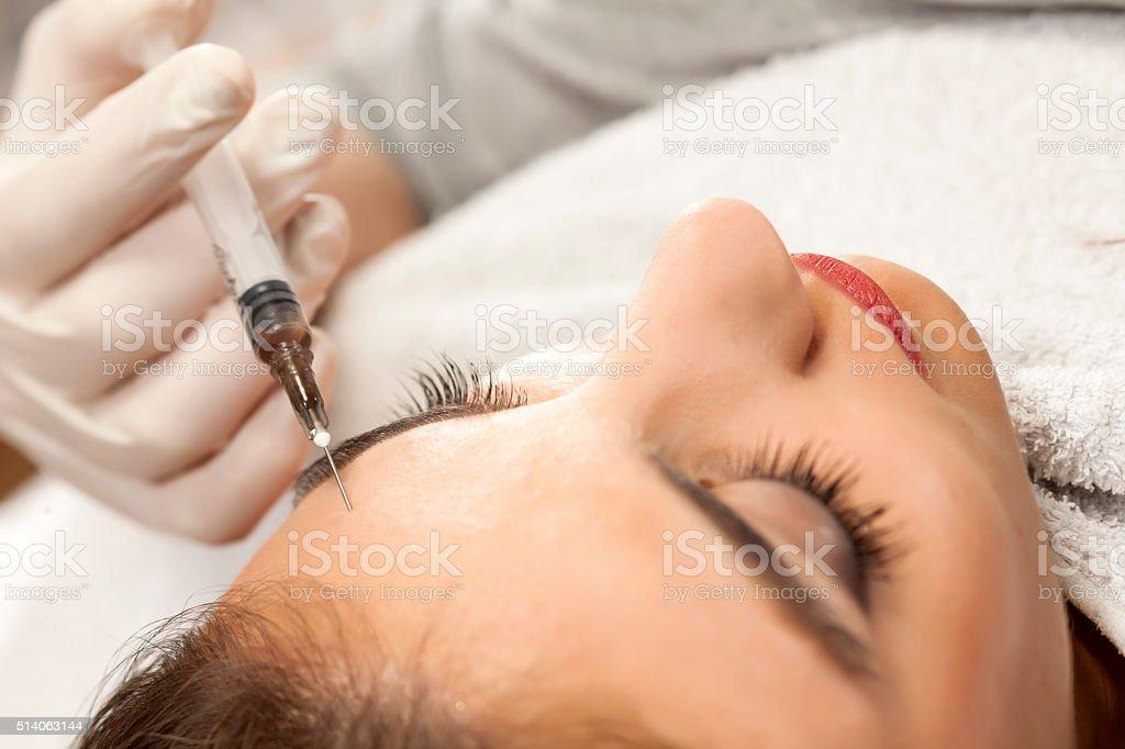 botox treatment stock photo