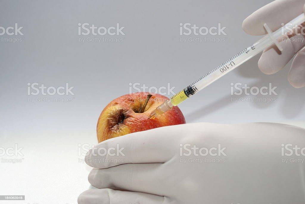 Botox Treatment with apple royalty-free stock photo