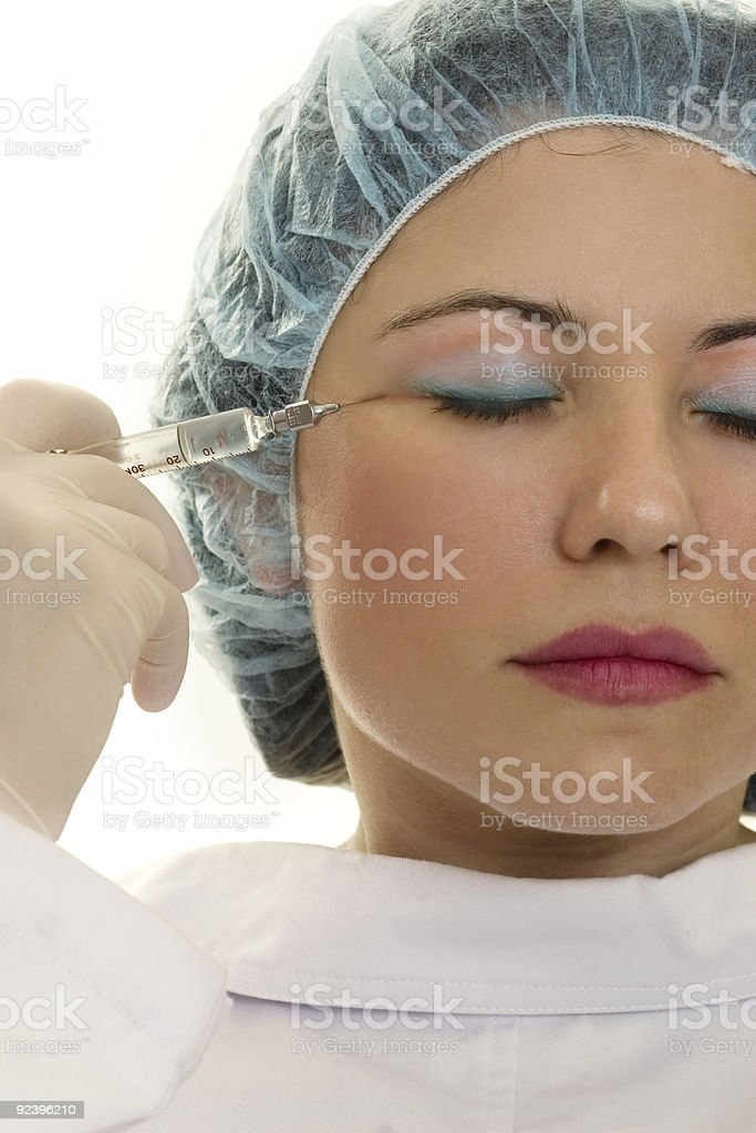 Botox Wrinkle reduction for eternal youth stock photo