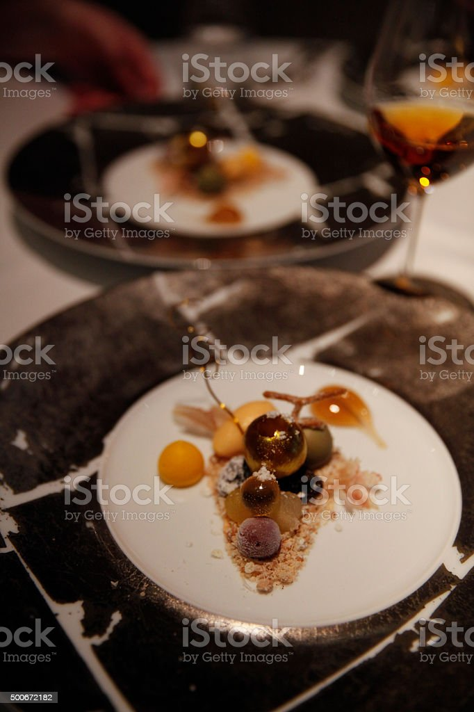 Botrytis Cinerea grape dessert stock photo