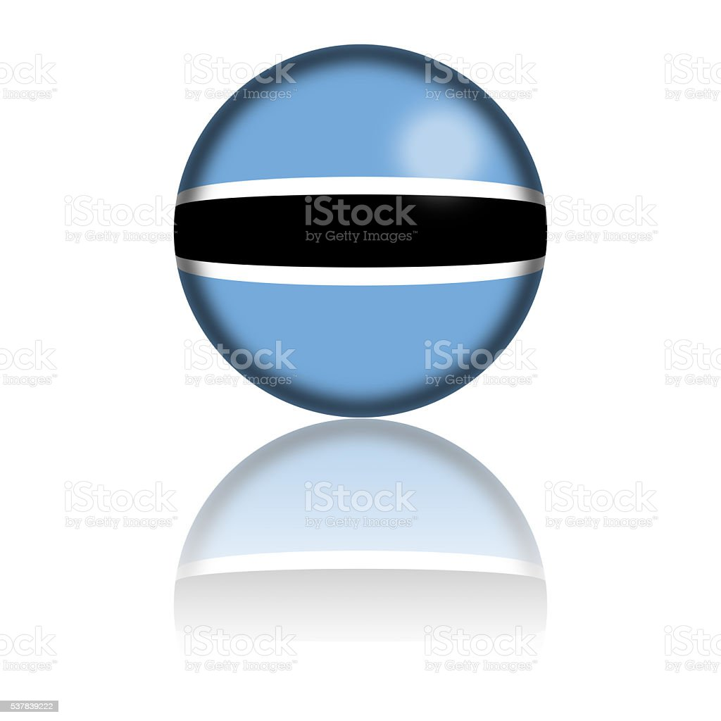 Botswana Flag Sphere 3D Rendering stock photo