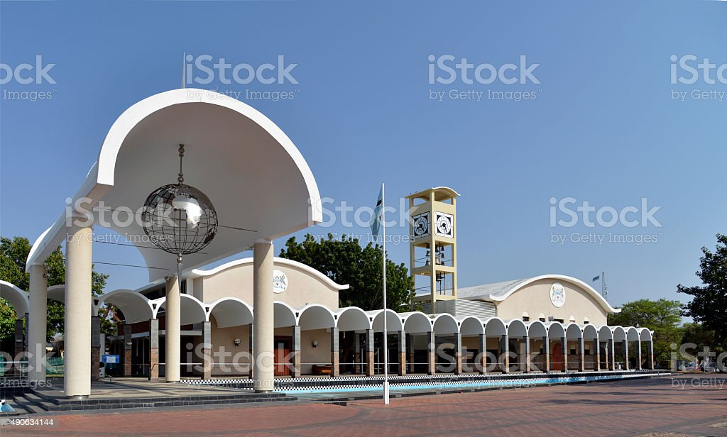 Botswana Parliament building. Gabarone. Africa. stock photo
