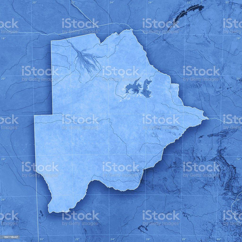 Botswana Topographic Map royalty-free stock photo