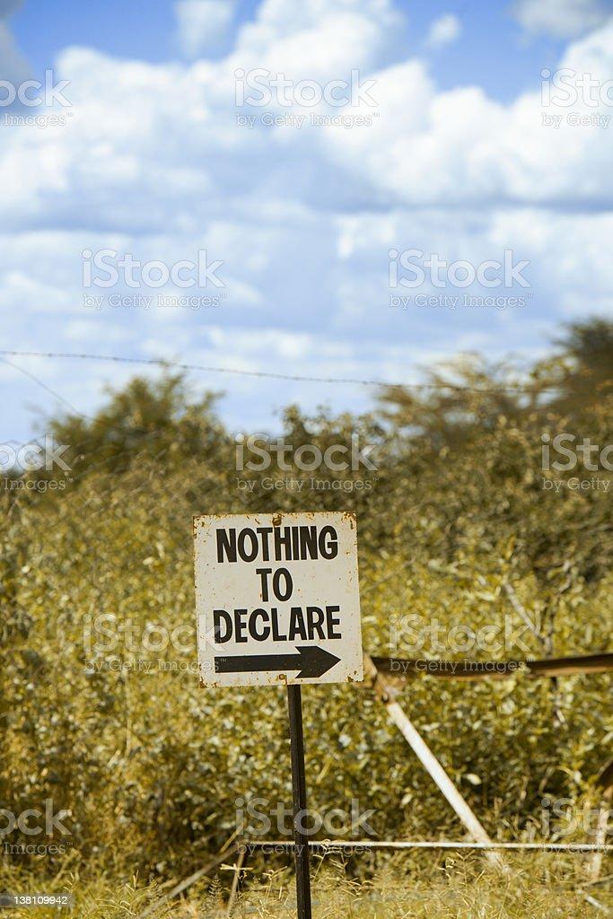 Botswana Zimbabwe Custom border royalty-free stock photo