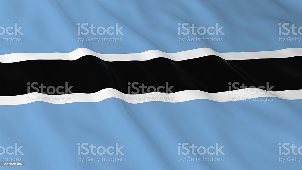 Botswanan Flag HD Background - Flag of Botswana 3D Illustration stock photo