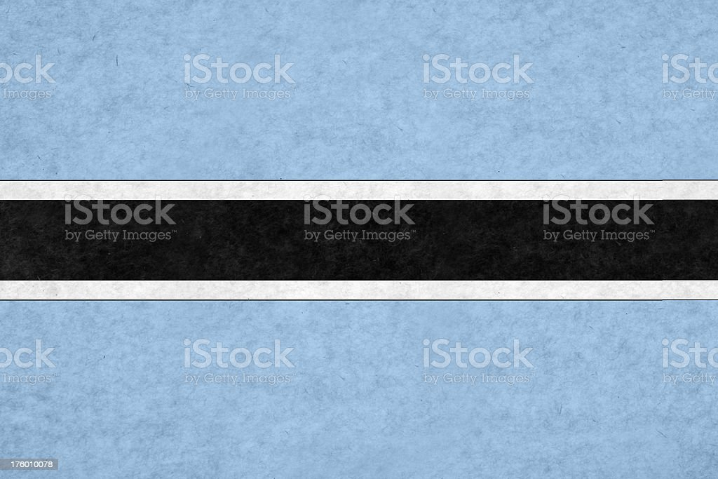 Botswanian flag stock photo