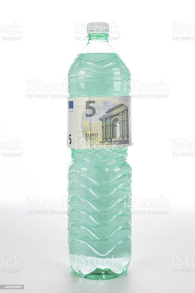bottiglia 5 euro stock photo