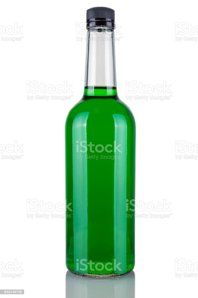Bottle alcohol absinthe stock photo