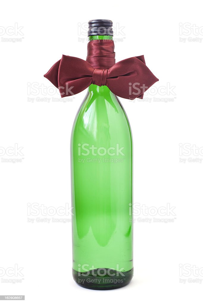 bottle and bow tie stock photo