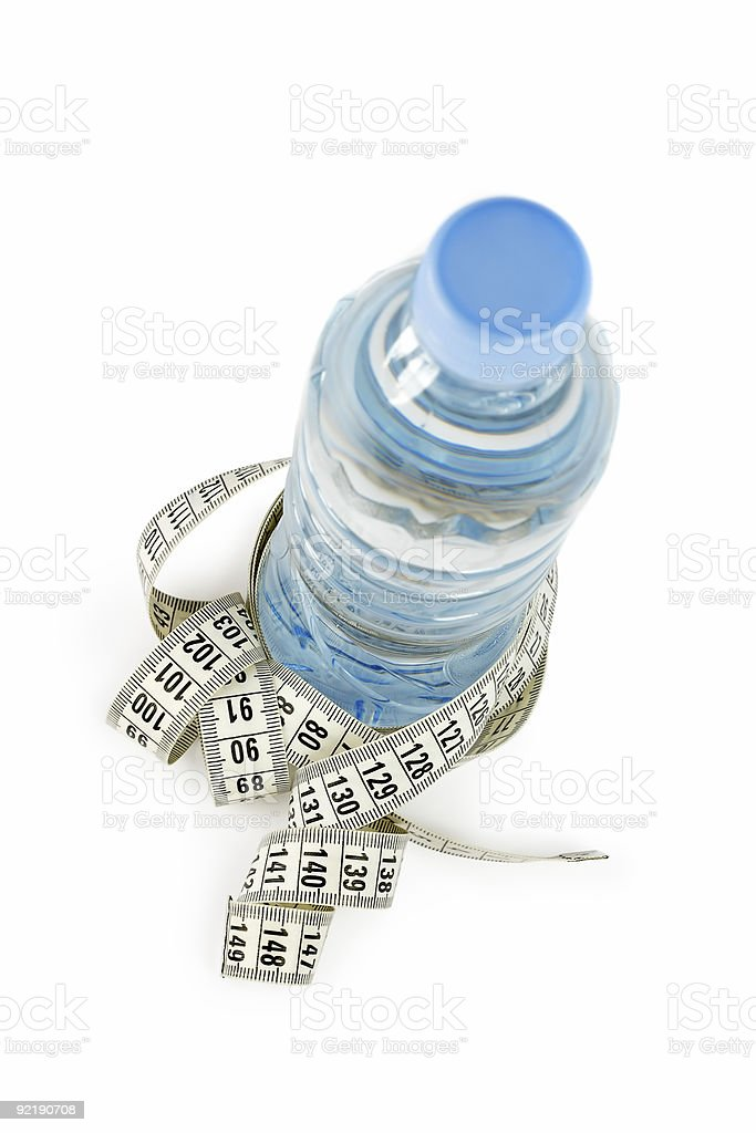 Bottle and centimeter royalty-free stock photo