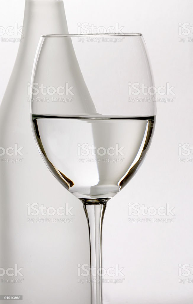 Bottle and Glass royalty-free stock photo