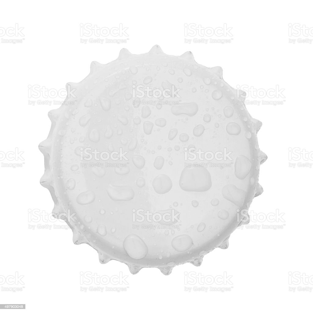Bottle cap isolated on white background. without shadow stock photo