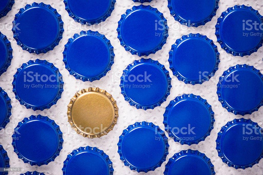 Bottle caps. stock photo
