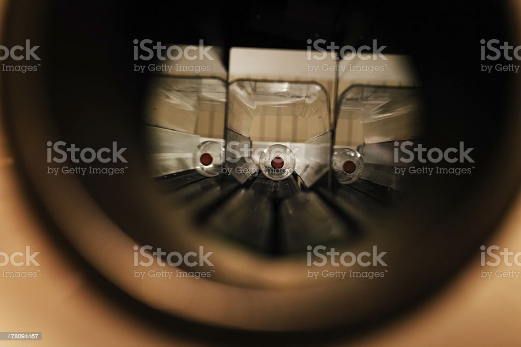 Bottle deposit machine stock photo