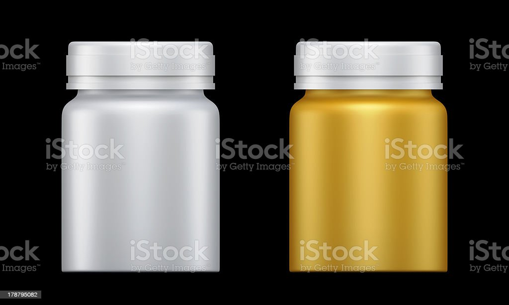 3D Bottle design product package, isolated royalty-free stock photo